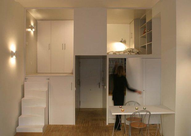 Фотография:  в стиле , Квартира, Студия, Советы, малогабаритка, до 40 метров, грамотное зонирование – фото на INMYROOM