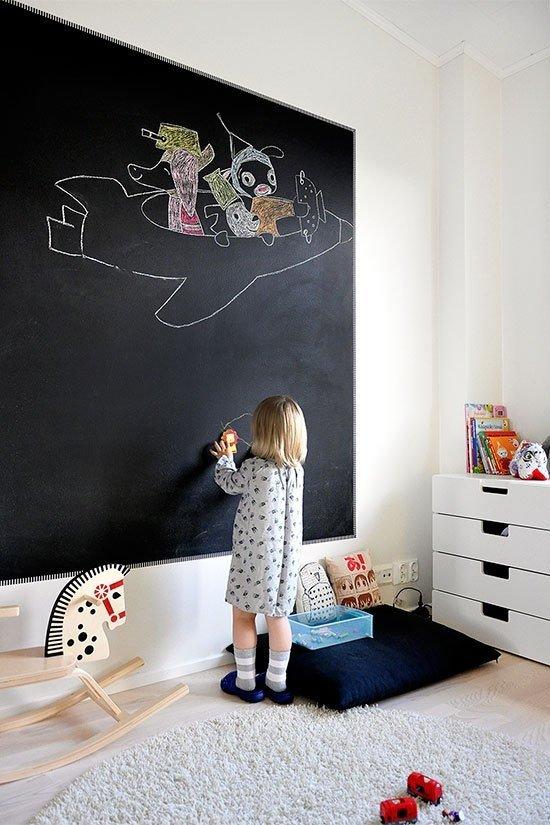 Фотография: Детская в стиле Скандинавский, Современный, Интерьер комнат, Обои, Ремонт, Стены, Краска – фото на INMYROOM