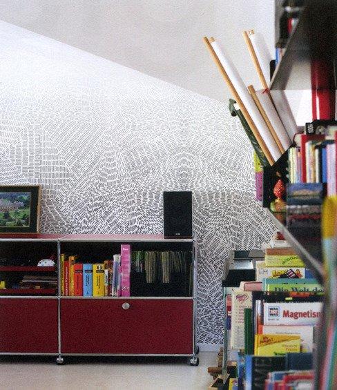 Фотография: Ванная в стиле Современный, Декор интерьера, Декор дома, Цвет в интерьере, Обои – фото на INMYROOM