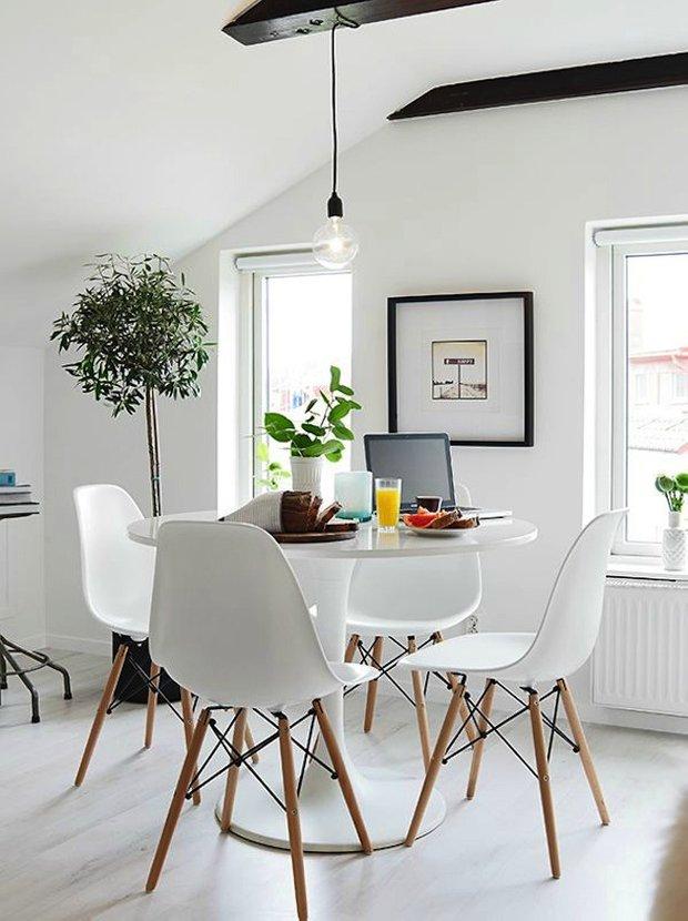 Фотография: Кухня и столовая в стиле Лофт, Скандинавский, Интерьер комнат, Обеденная зона – фото на INMYROOM