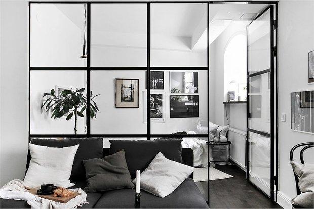 Фотография: Гостиная в стиле Скандинавский, Малогабаритная квартира, Квартира, Швеция, Советы, Стокгольм, 1 комната, до 40 метров – фото на INMYROOM