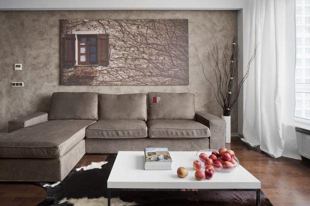 Фотография: Планировки в стиле , Кухня и столовая, Гостиная, Декор интерьера, Квартира, Студия, Дом, Мебель и свет, угловой диван в интерьере – фото на INMYROOM