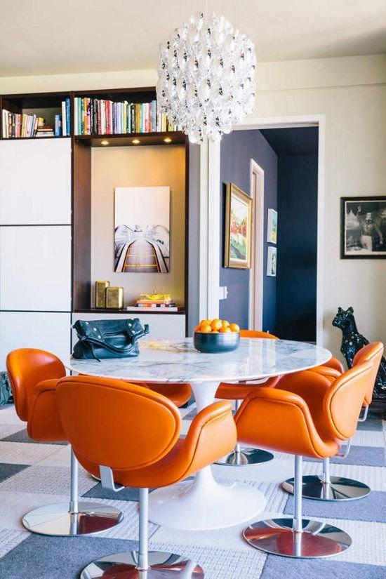 Фотография: Кухня и столовая в стиле Классический, Скандинавский, Современный, Эклектика, Декор интерьера, Дизайн интерьера, Цвет в интерьере, Оранжевый – фото на INMYROOM