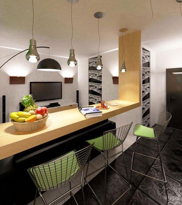 Фотография: Кухня и столовая в стиле Современный, Декор интерьера, Малогабаритная квартира, Квартира, Студия – фото на INMYROOM