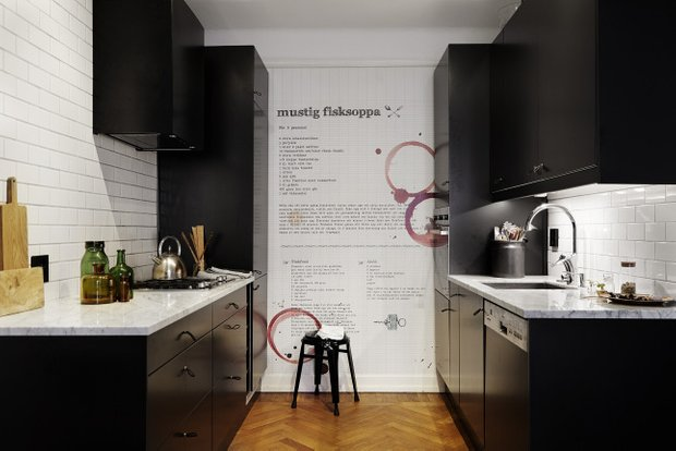 Фотография: Кухня и столовая в стиле Лофт, Современный, Скандинавский, Декор интерьера, Малогабаритная квартира, Квартира, Мебель и свет – фото на INMYROOM