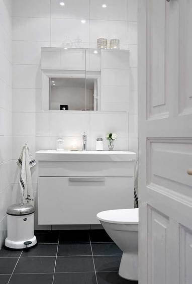Фотография: Ванная в стиле Прованс и Кантри, Скандинавский, Квартира, Швеция, Мебель и свет, Дома и квартиры, Гетеборг – фото на INMYROOM