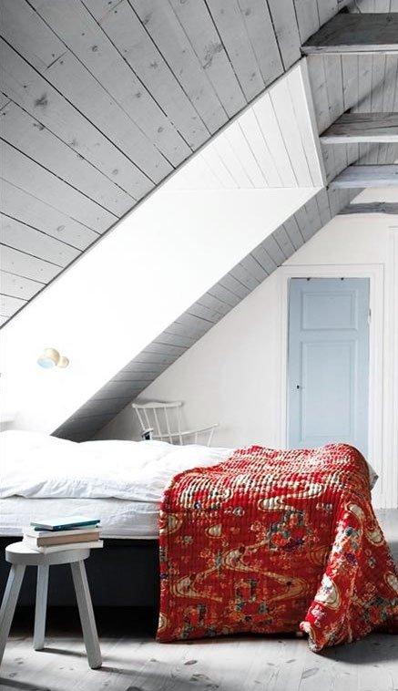 Фотография: Спальня в стиле Прованс и Кантри, Скандинавский, Современный, Чердак, Мансарда – фото на INMYROOM