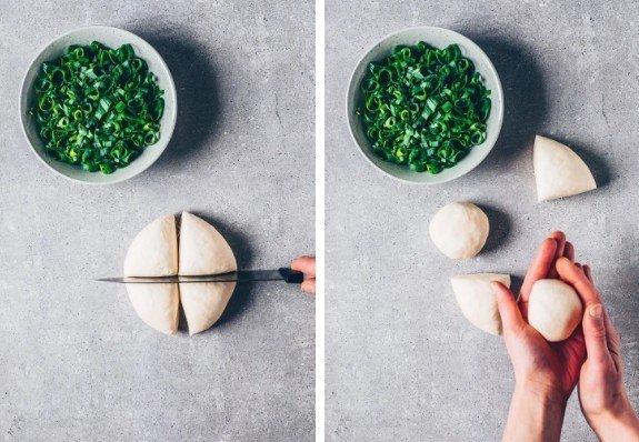 Фотография:  в стиле , Закуска, Вегетарианская, Веганская, Жарить, Закуски, Китайская кухня, Кулинарные рецепты, 45 минут, Просто, Вода, Зеленый лук – фото на INMYROOM