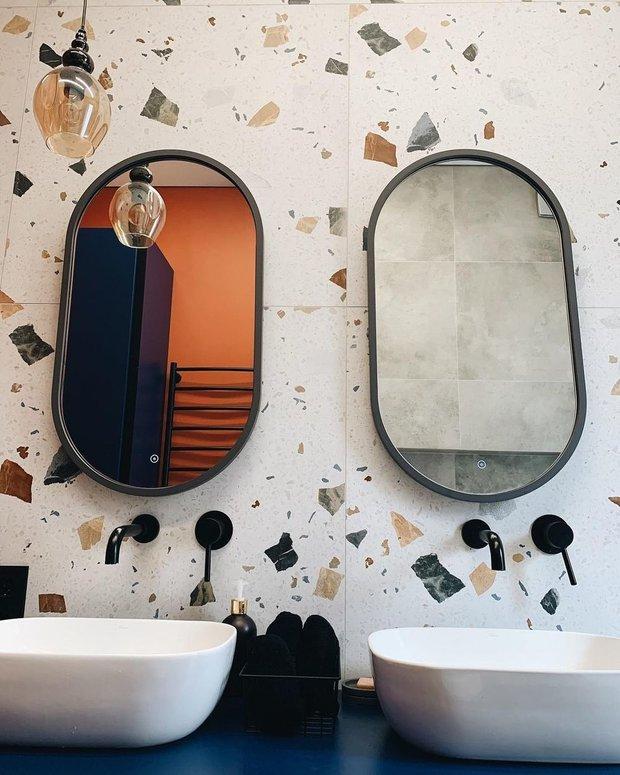 Зеркала — «Леруа Мерлен», железная матовая окантовка и подсветка