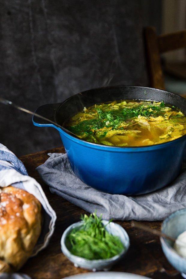 Фотография:  в стиле , Обед, Первое блюдо, Здоровое питание, Суп, Мясо, Рыба, Секреты кулинарии, Кулинарные рецепты, Варить, 45 минут, Европейская кухня, Просто, Говядина, Савойская капуста – фото на INMYROOM