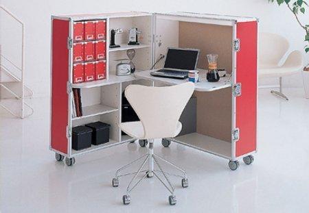 Фотография: Декор в стиле Современный, Кабинет, Интерьер комнат, Системы хранения – фото на INMYROOM
