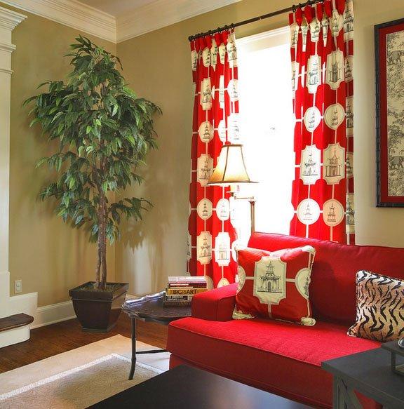 Фотография: Гостиная в стиле Восточный, Декор интерьера, Текстиль, Шторы – фото на INMYROOM