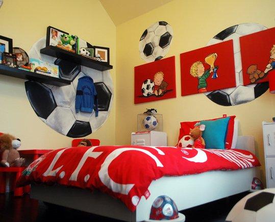 Фотография: Детская в стиле Современный, Декор интерьера, Декор дома, Цвет в интерьере, Обои – фото на INMYROOM