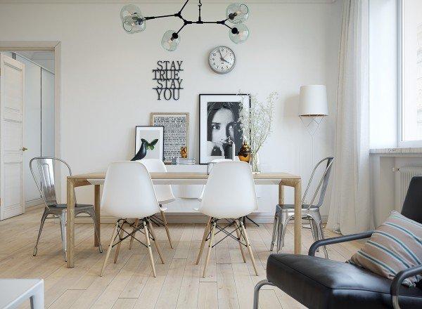 Фотография: Кухня и столовая в стиле Скандинавский, Советы, керамическая плитка, ковролин, Никита Морозов, KM Studio, ламинат в квартире, как грамотно сэкономить на ремонте, сэкономить на ремонте, сочетания плитки, как бюдженто сделать ремонт, бюджентый ремонт в санузле, бюджетные идеи для дома, керамогранит под дерево, декоративный камень – фото на INMYROOM