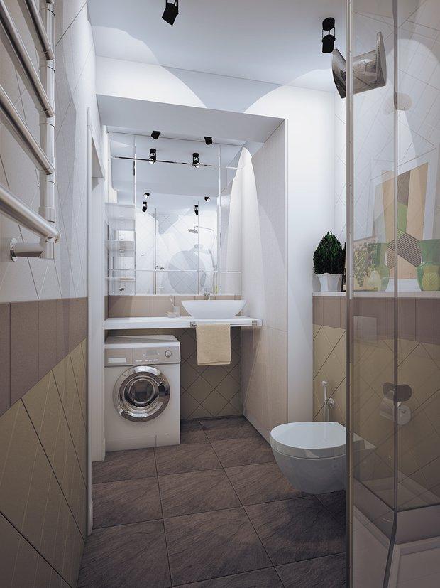 Фотография: Ванная в стиле Современный, Классический, Квартира, Планировки, Мебель и свет, Проект недели – фото на INMYROOM