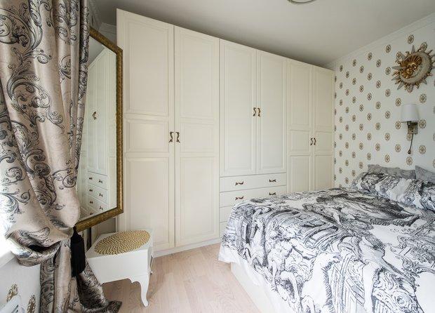Фотография: Спальня в стиле Классический, Современный, Малогабаритная квартира, Квартира, Декор, Дома и квартиры, IKEA, Проект недели – фото на INMYROOM