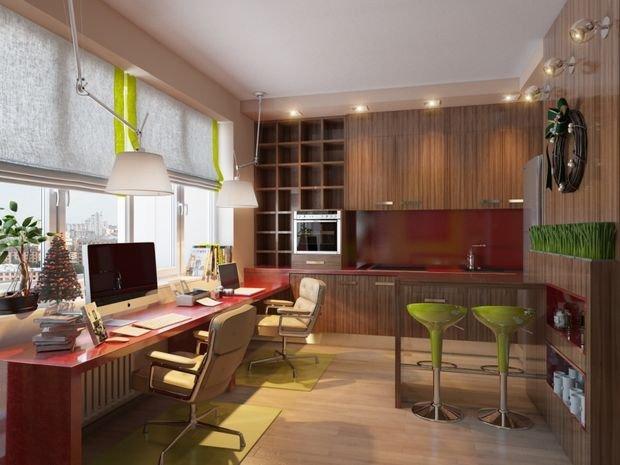 Фотография: Кабинет в стиле Современный, Декор интерьера, Малогабаритная квартира, Квартира, Студия – фото на INMYROOM