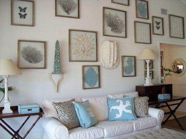 Фотография:  в стиле , Декор интерьера, Декор, Белый, Синий, Эко, Нина Романюк, морской стиль в интерьере, полоска в интерьере, пляжный стиль – фото на INMYROOM
