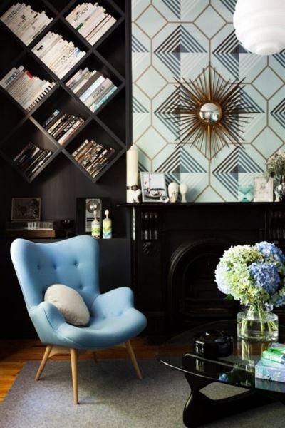 Фотография: Гостиная в стиле Современный, Декор интерьера, Декор, Домашняя библиотека, как разместить книги в интерьере, книги в интерьере – фото на INMYROOM