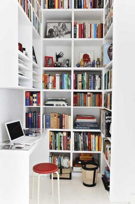 Фотография: Офис в стиле Современный, Хранение, Стиль жизни, Советы, Библиотека – фото на INMYROOM