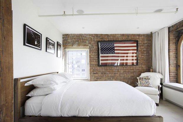 Фотография: Спальня в стиле Прованс и Кантри, Лофт, Скандинавский, Современный, Квартира, Дома и квартиры – фото на INMYROOM