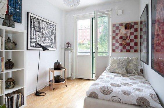 Фотография: Спальня в стиле Скандинавский, Современный, Декор интерьера, Интерьер комнат, Хрущевка – фото на INMYROOM