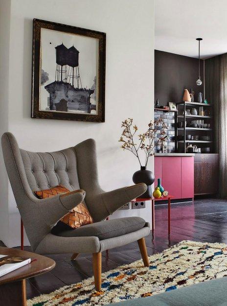Фотография: Гостиная в стиле Скандинавский, Эклектика, Малогабаритная квартира, Квартира, Дома и квартиры – фото на INMYROOM