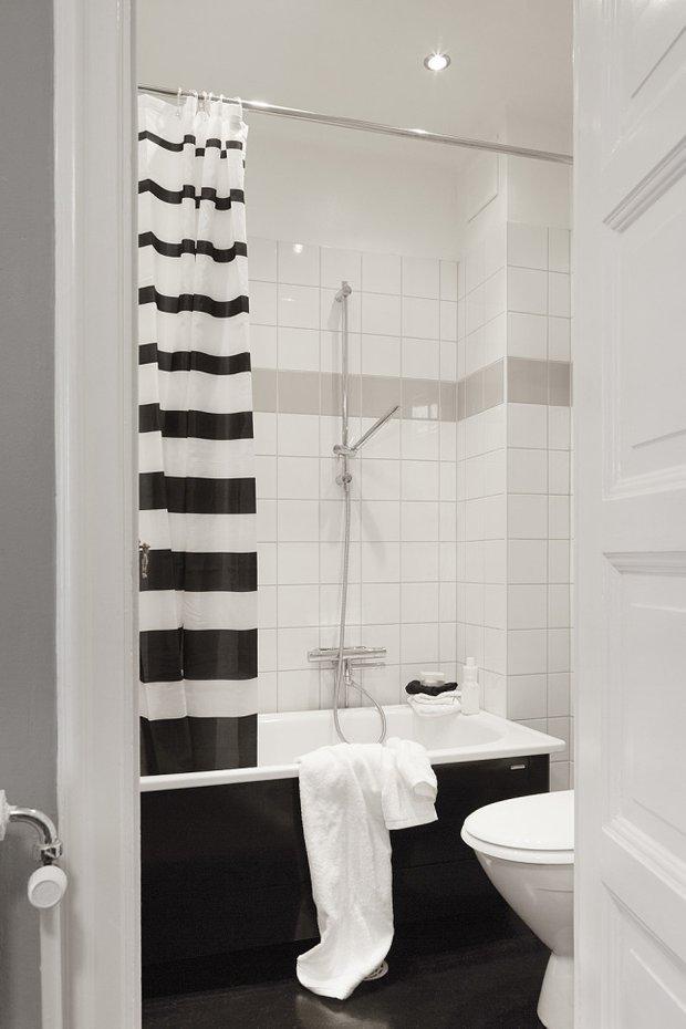 Фотография: Ванная в стиле Скандинавский, Декор интерьера, Малогабаритная квартира, Квартира, Мебель и свет – фото на InMyRoom.ru
