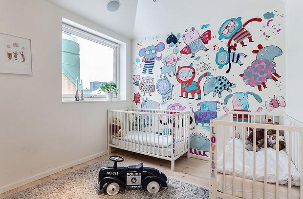 Фотография: Детская в стиле Скандинавский, Квартира, Мебель и свет, Дома и квартиры – фото на INMYROOM