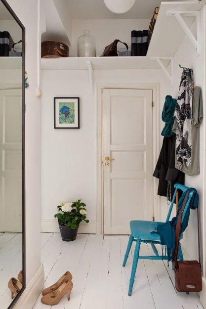Фотография: Прихожая в стиле Скандинавский, Малогабаритная квартира, Квартира, Дома и квартиры – фото на INMYROOM