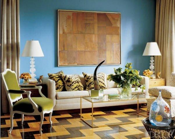 Фотография: Гостиная в стиле Эклектика, Декор интерьера, Декор дома, Пол – фото на InMyRoom.ru