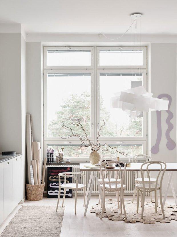 Фотография: Кухня и столовая в стиле Скандинавский, Декор интерьера, Квартира, Швеция, Белый, Стокгольм – фото на INMYROOM