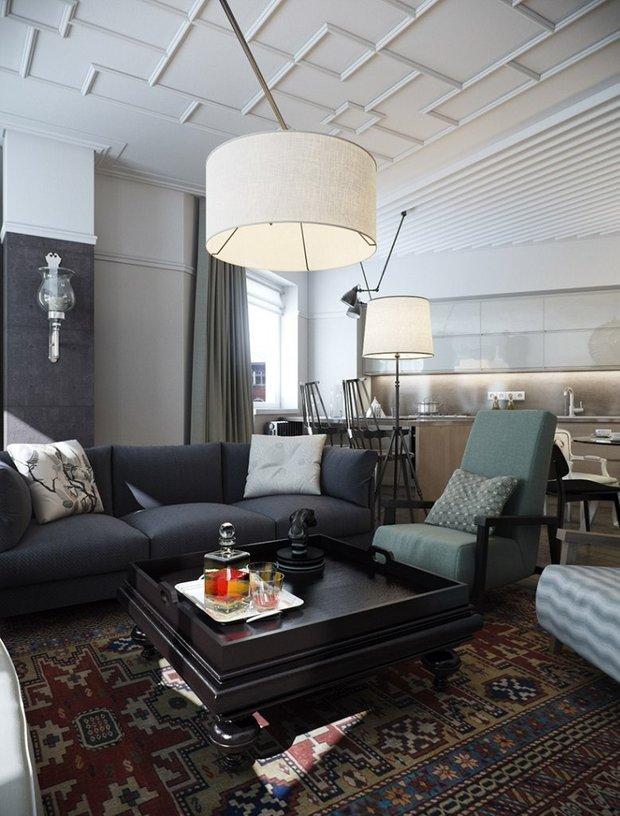 Фотография: Гостиная в стиле , Квартира, Дом, Ремонт на практике – фото на InMyRoom.ru