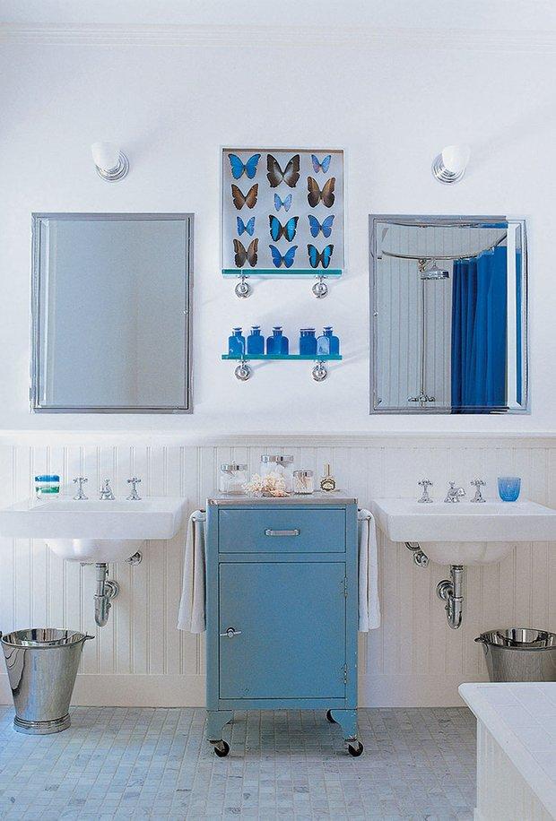 Фотография: Ванная в стиле Прованс и Кантри, Дом, Дома и квартиры, Интерьеры звезд – фото на INMYROOM