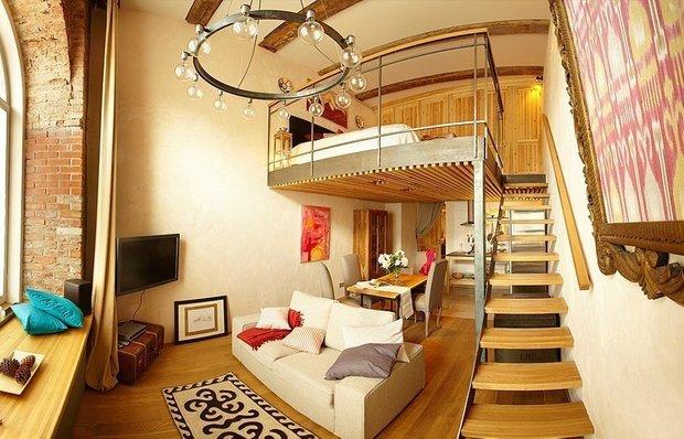 Фотография: Гостиная в стиле Прованс и Кантри, Спальня, Малогабаритная квартира, Квартира, Дома и квартиры, Перепланировка – фото на INMYROOM