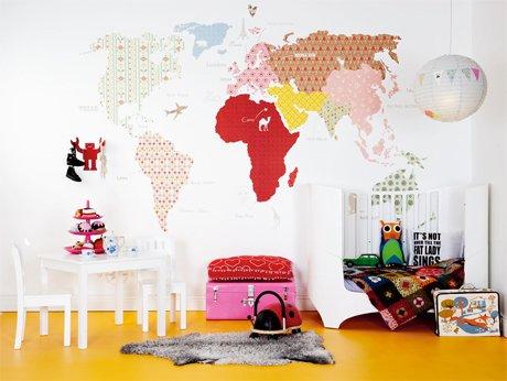 Фотография: Детская в стиле Скандинавский, Декор интерьера, Декор дома, Цвет в интерьере, Обои – фото на INMYROOM