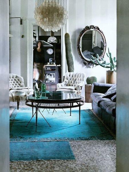 Фотография: Гостиная в стиле Прованс и Кантри, Эклектика, Декор интерьера, Мебель и свет, Цвет в интерьере, Ковер – фото на INMYROOM
