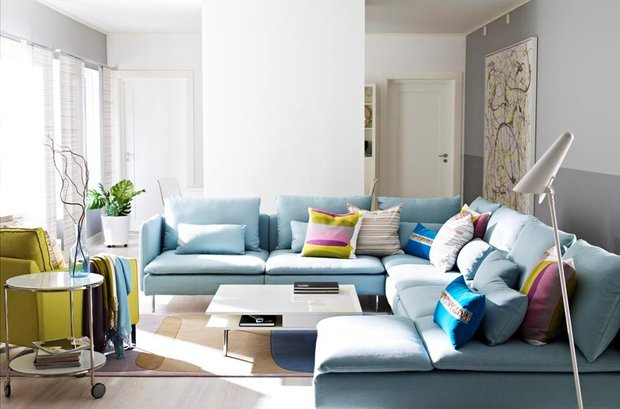 Фотография: Гостиная в стиле Скандинавский, Декор интерьера, Дизайн интерьера, Цвет в интерьере, Белый – фото на INMYROOM