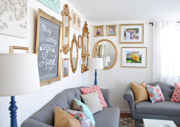 Фотография: Гостиная в стиле Прованс и Кантри, Декор интерьера, Мебель и свет, Советы, Белый, как оформить пустой угол, пустой угол в квартире – фото на INMYROOM