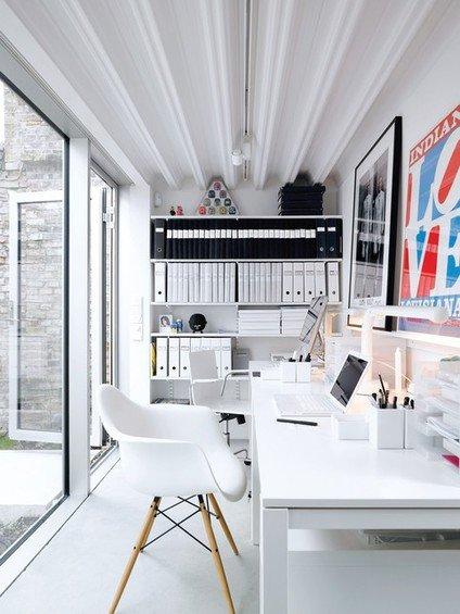 Фотография: Офис в стиле Современный, Кабинет, Интерьер комнат, Системы хранения – фото на INMYROOM