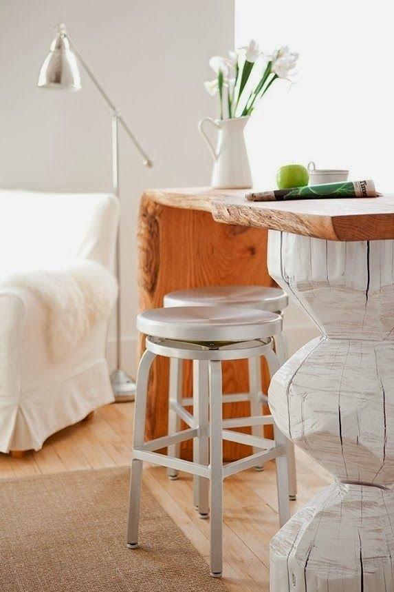 Фотография: Мебель и свет в стиле Скандинавский, Кухня и столовая, Интерьер комнат, Барная стойка – фото на INMYROOM