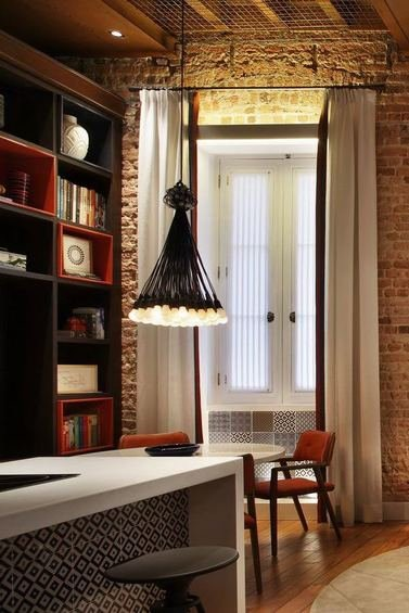 Фотография: Декор в стиле Лофт, Квартира, Дома и квартиры, Стеллаж, Барная стойка – фото на INMYROOM
