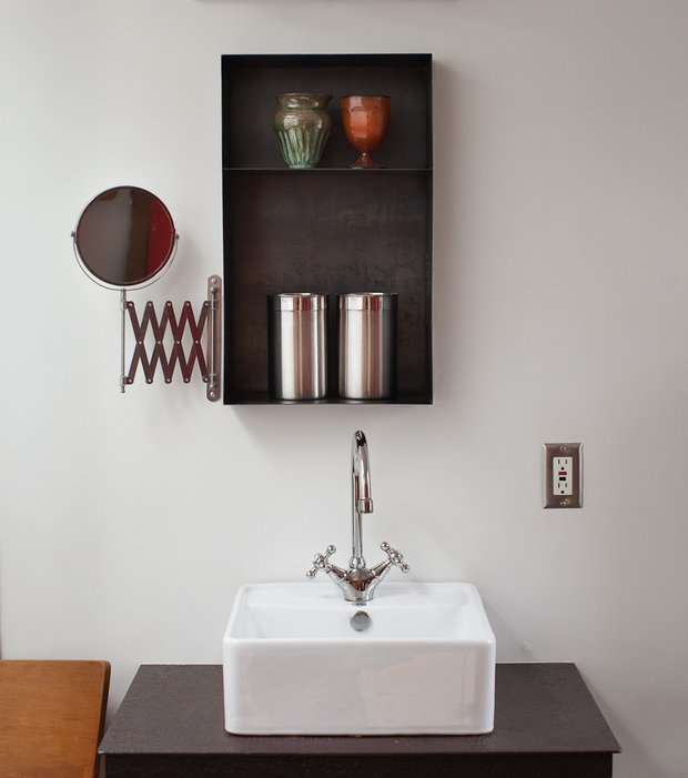 Фотография: Ванная в стиле , DIY, Малогабаритная квартира, Квартира, Дом, Дома и квартиры – фото на INMYROOM