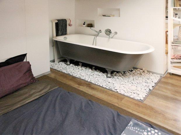 Фотография: Ванная в стиле Лофт, Малогабаритная квартира, Квартира, Дома и квартиры, Чердак, Мансарда – фото на INMYROOM