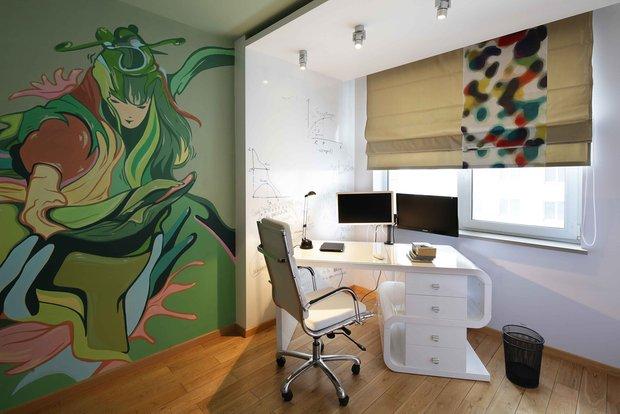 Фотография: Кабинет в стиле Лофт, Современный, Эклектика, Квартира, Проект недели – фото на INMYROOM