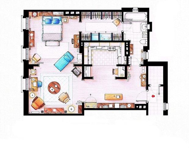 Фотография: Планировки в стиле , Советы, гостиная в американском стиле, квартира как у Кэрри, Квартира как у Моники, Квартира как у Шелдона Купера – фото на INMYROOM