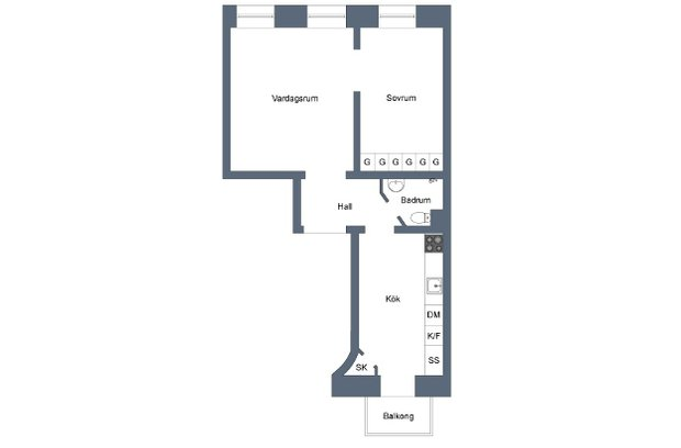 Фотография: Планировки в стиле , Скандинавский, Малогабаритная квартира, Квартира, Цвет в интерьере, Дома и квартиры, Белый – фото на InMyRoom.ru