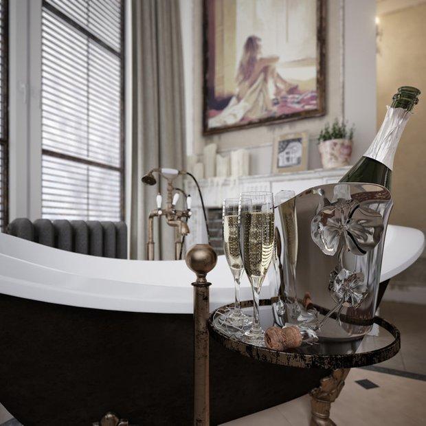 Фотография: Ванная в стиле Прованс и Кантри, Эклектика, Классический, Дом, Дома и квартиры, Прованс, Проект недели – фото на INMYROOM
