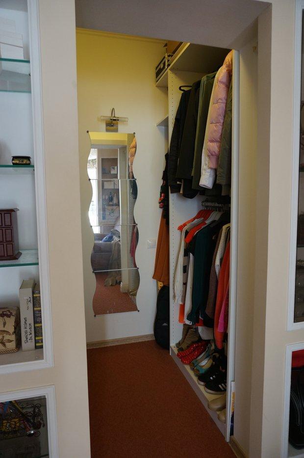 Фотография: Прихожая в стиле Современный, Гардеробная, Квартира, Дома и квартиры, Переделка, Ремонт на практике – фото на INMYROOM