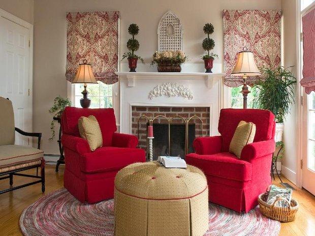 Фотография: Гостиная в стиле Прованс и Кантри, Декор интерьера, Интерьер комнат, Мебель и свет – фото на INMYROOM